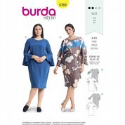 6389 Burda Pattern: Misses' Plus Size Dress